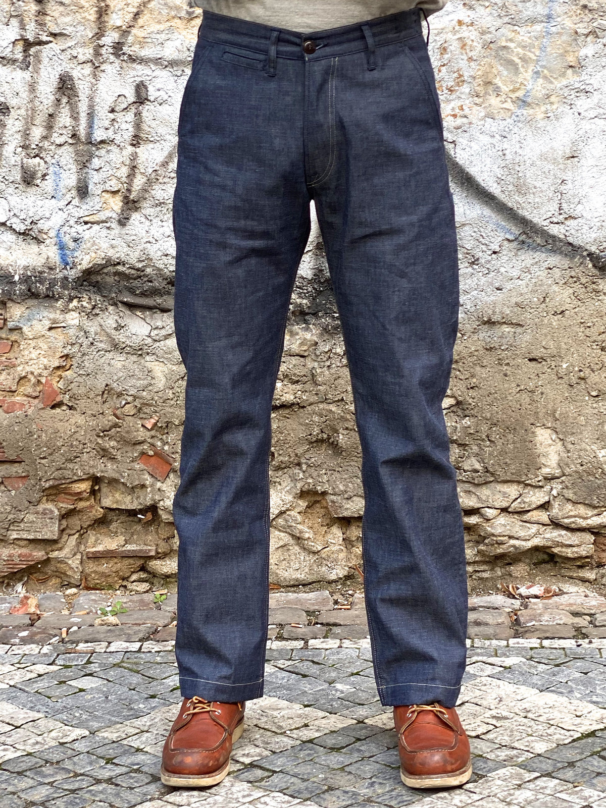 Indigofera Quinn Pants Military Chambray