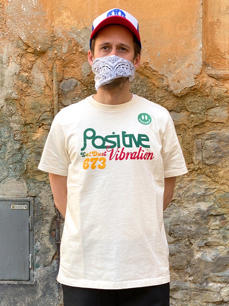 Eat Dust Tee Positive Vibrations Off White