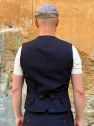 Hansen Garments William Waistcoat Deep Indigo