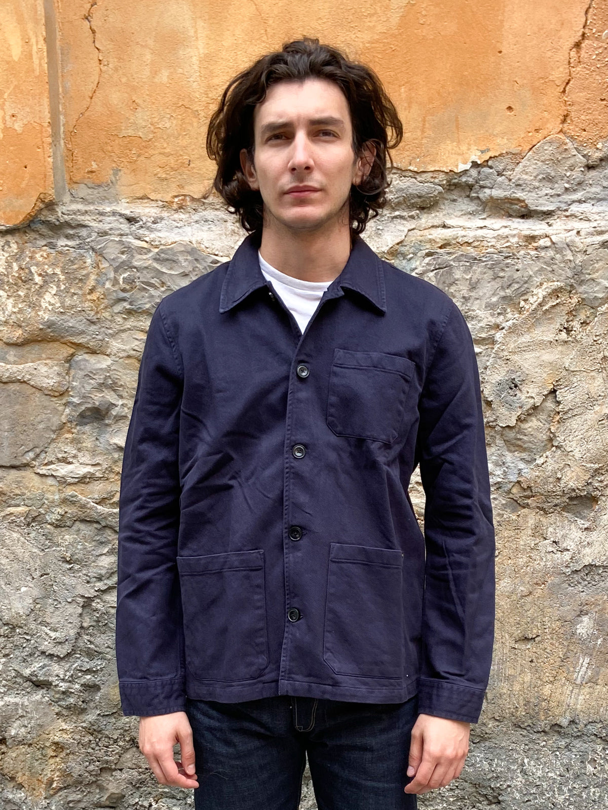 Nudie Jeans Barney Worker Jacket Navy