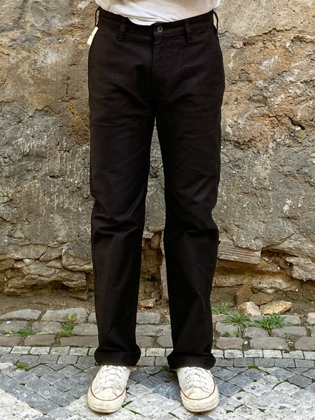Iron Heart IH-720-BLK Whipcord Work Pants - Superblack