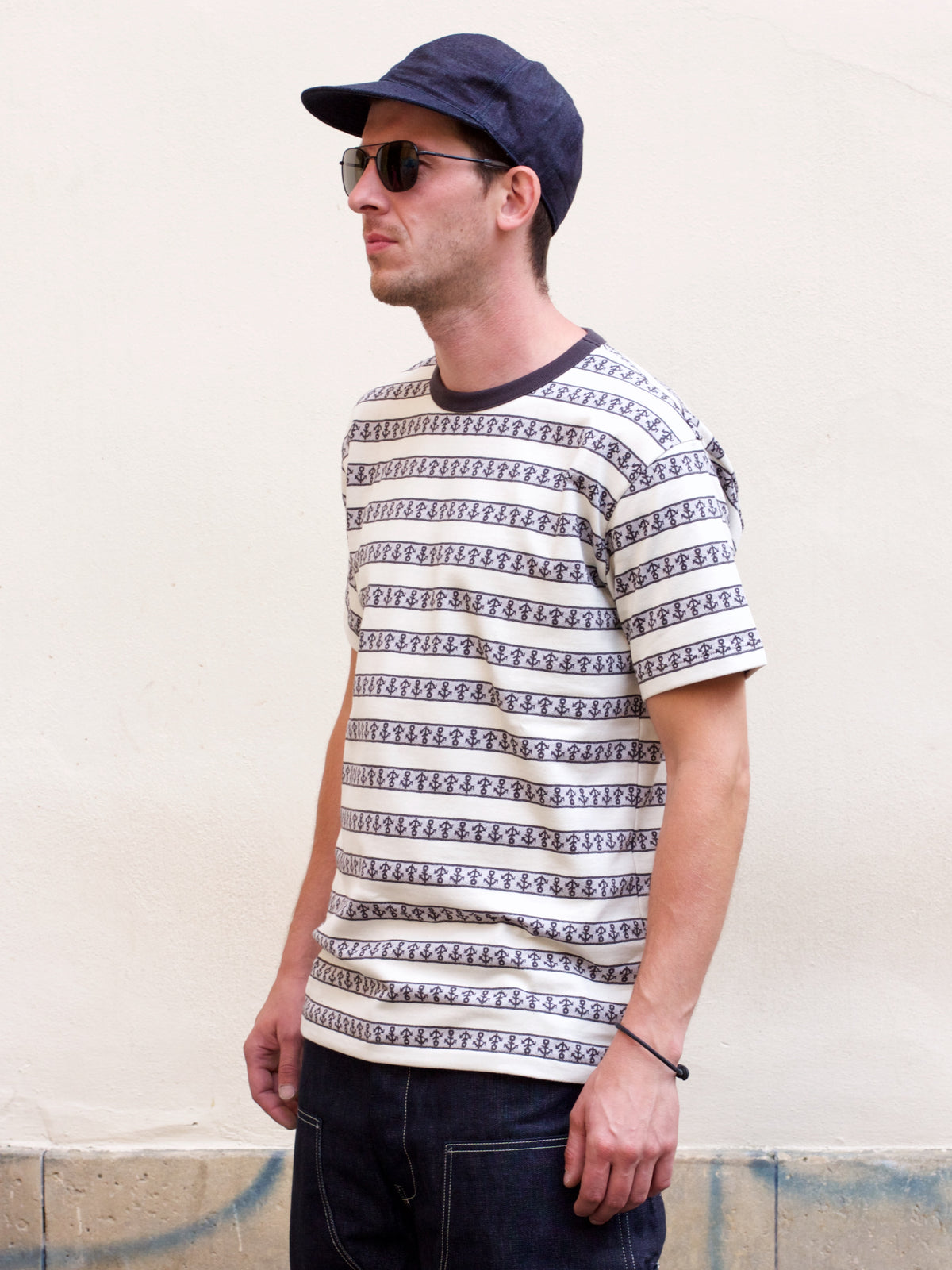 Real McCoy's MC19014 Anchor Jacquard Tee