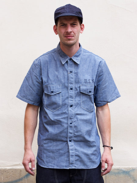 Real McCoy's U.S.N. Chambray Shirt SS