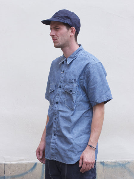 Real McCoy's  MS18014 U.S.N. Chambray Shirt SS