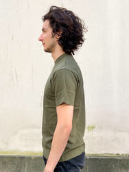 IHT-1610L - 6.5oz Loopwheel Crew Neck T-Shirt with longer body - Olive