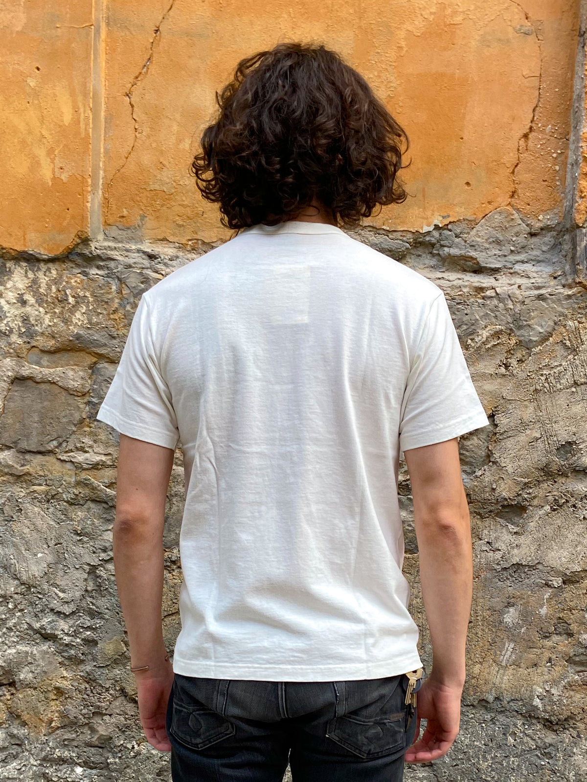 IHT-1610L - 6.5oz Loopwheel Crew Neck T-Shirt with longer body - White
