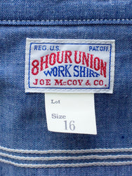 Real McCoy's MS19004 8HU Chambray Serviceman Shirt Bullhead