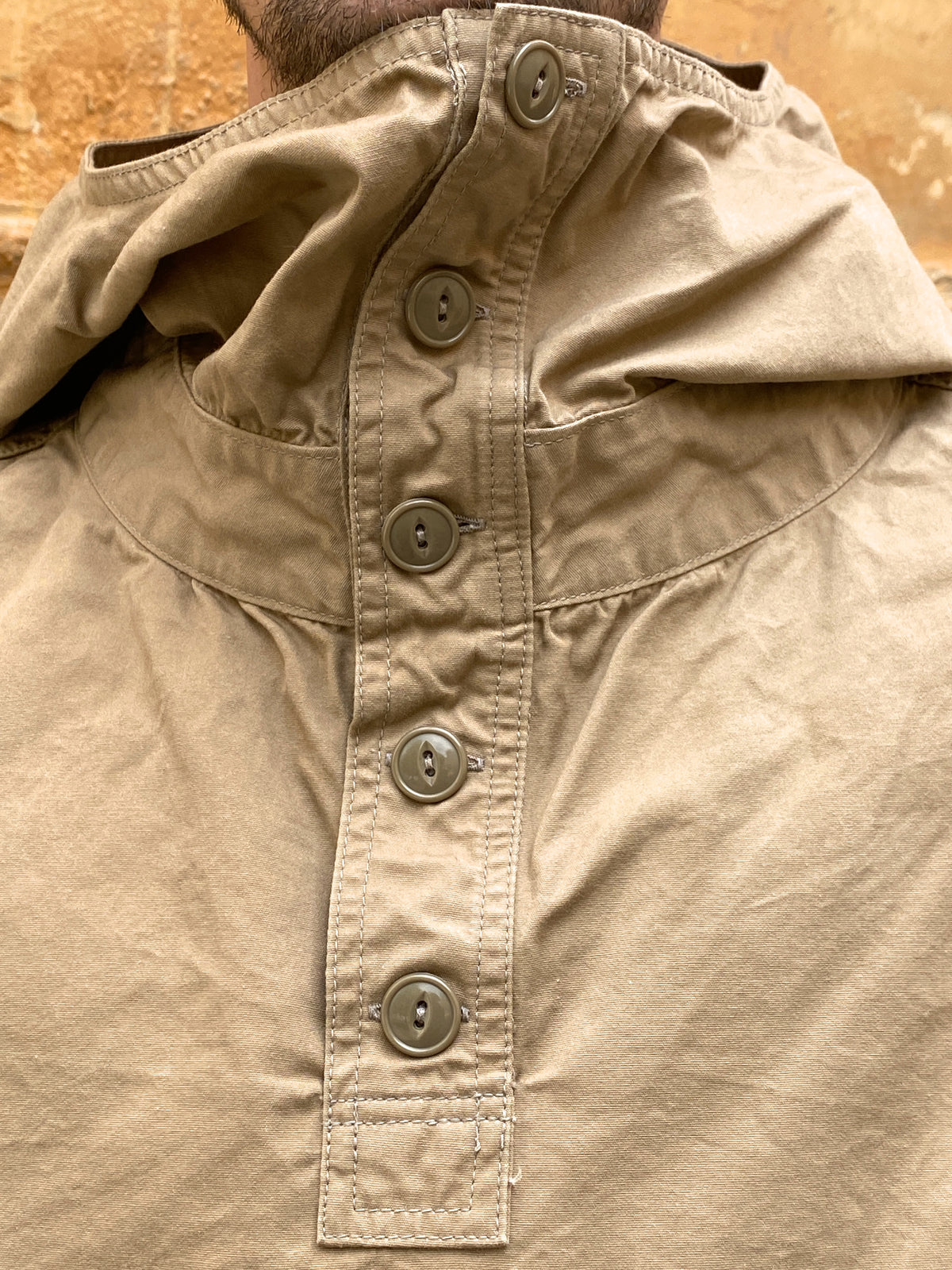Black Sign Paraffin Deck Shirt  Desert Beige