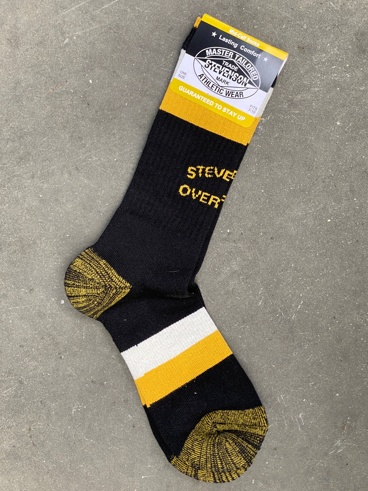 Stevenson Overall AS2-BK Athletic Socks Black