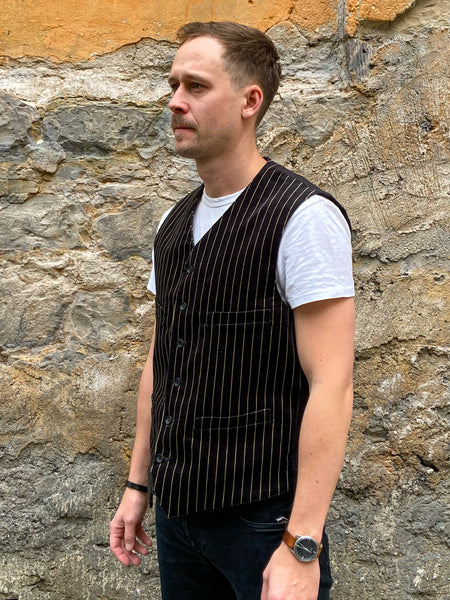Black Sign Noble Velveteen Butler Vest