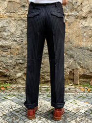 Black Sign Jail Stripe Dress Trousers  Royal Navy