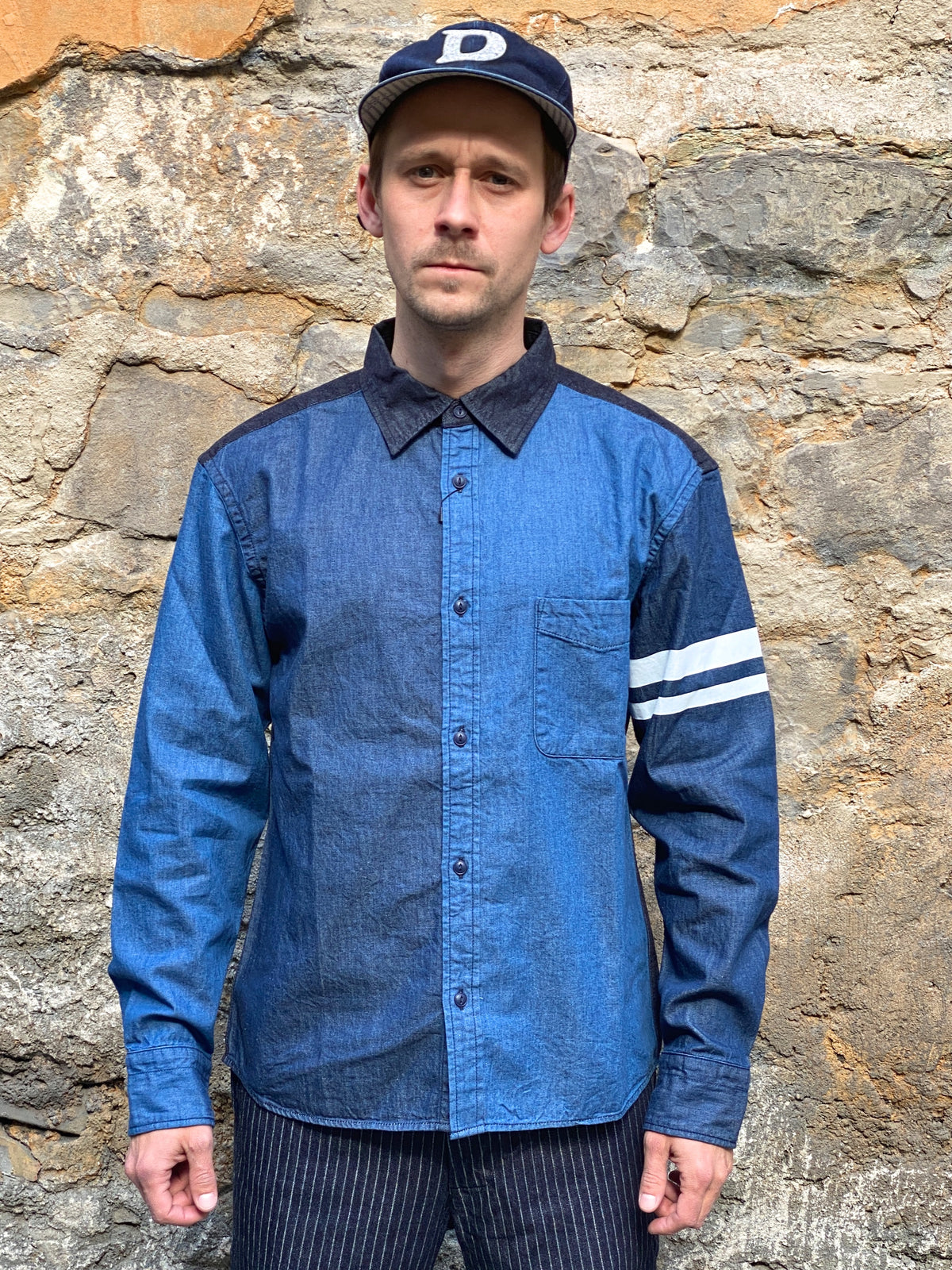Momotaro 05-269 Switch Denim Shirt