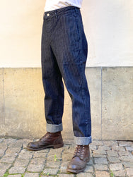 Momotaro 01-076 Striped Denim Trousers