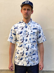 Momotaro 06-091 Original Print Hawaiian Shirt