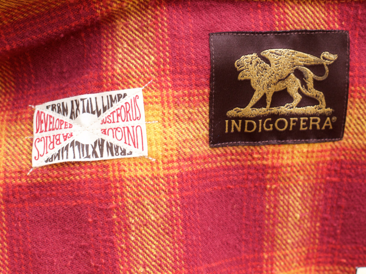 Indigofera Dawson Flannel Shirt Red/Yellow