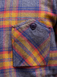 Samurai SNL19-01 Flannel Check Workshirt Mustard