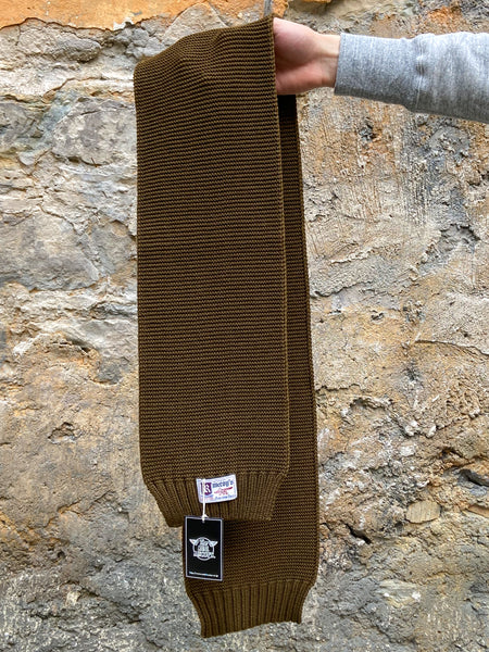 The Real McCoy's MA11101 Wool knit muffler Military scarf Olive Green