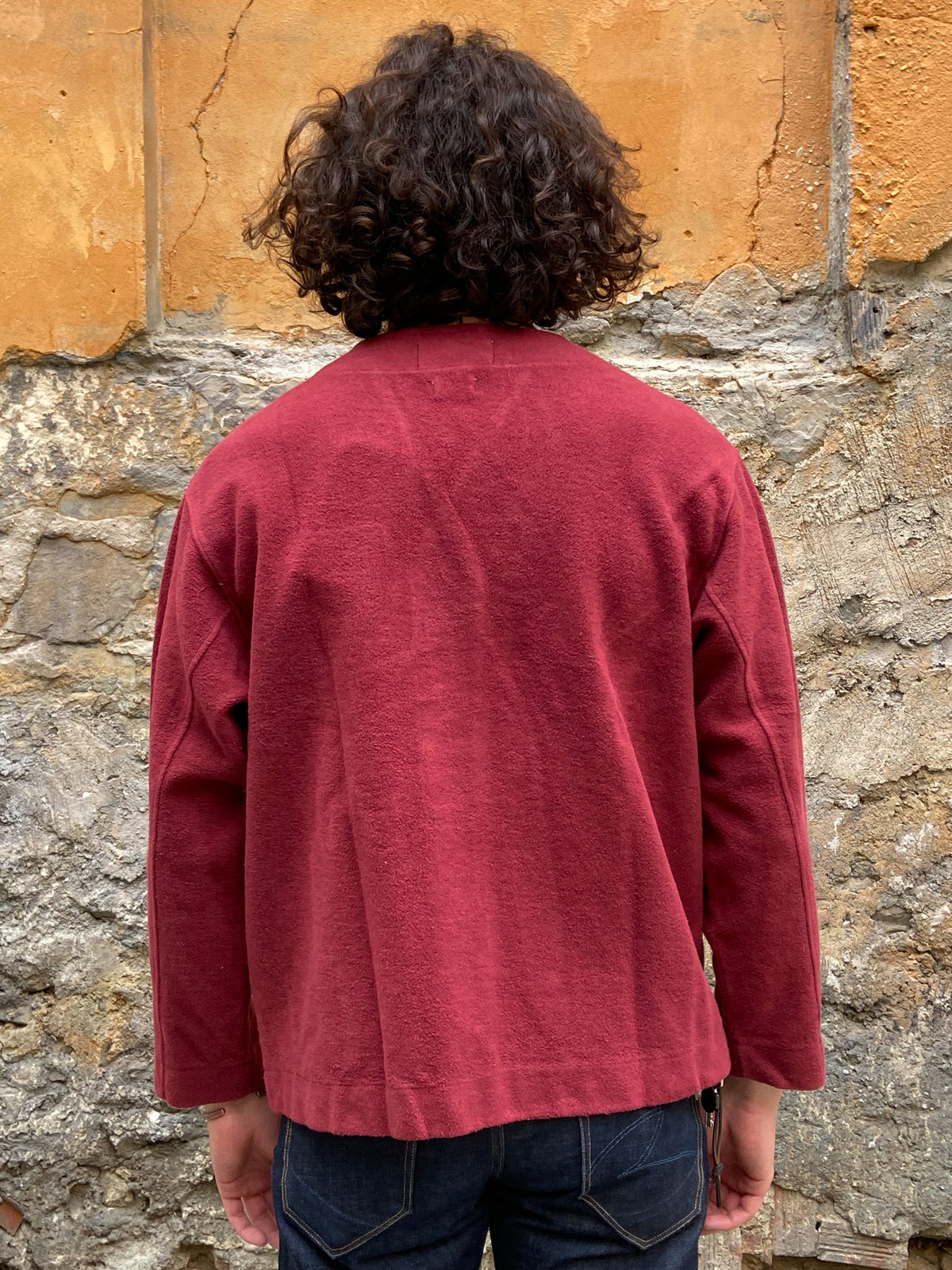 Eat Dust Sweat Ivy Cardigan Heavy Fleece Bordeaux