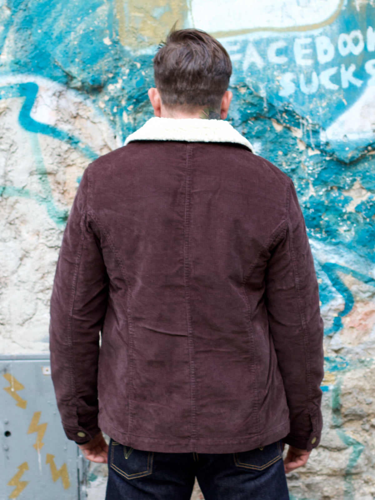 Eat Dust Chore Jacket 673-S Feincord Brown