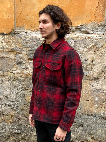 Filson Mackinaw Jac-Shirt Magic-oxblood/black