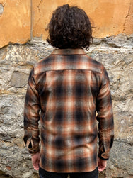 Pendleton Board Shirt Brown/Rust Ombre