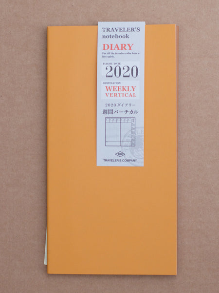 Traveler's Company 2020 Vertical Diary