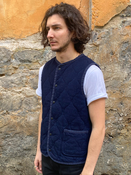 Momotaro Jeans 04-047 Dobby Quilting Reversible Vest