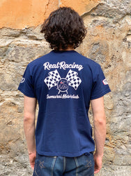 "Samurai SMT20-104-OVS ""Real Racing"" Collaboration Tee Navy"