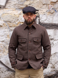 Momotaro 03-127 Beach Cloth Jacket Brown