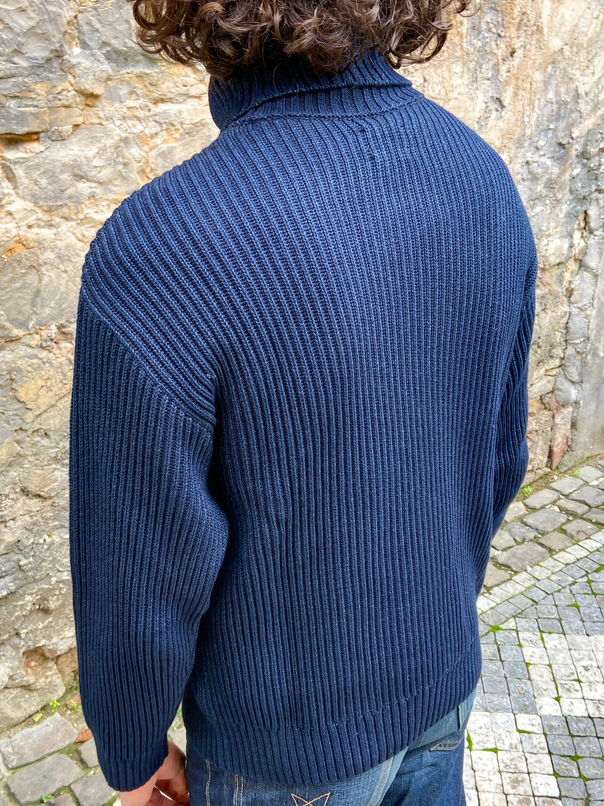Nudie Jeans Frank Indigo Roll Neck