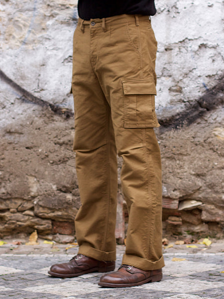 Momotaro 01-069 Military Code Lane Wide Cargo Pants Beige