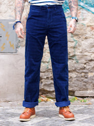 Japan Blue J212522 Indigo Corduroy Brooklyn Pants