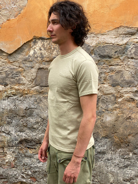 Studio D'Artisan Fox-006 Loopwheeled Short-Sleeved Pocket T-Shirt