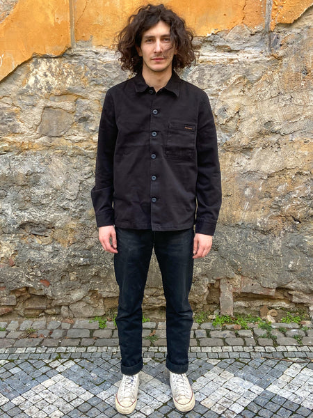 Nudie Jeans Sten Army Twill Shirt Jacket Black
