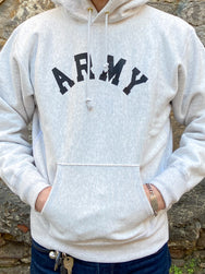 Joe McCoy MC20105 Hooded Sweatshirt / ARMY Silver Grey