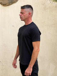 Joe McCoy MC19010 Athletic T-Shirt / Loop-Wheel Black