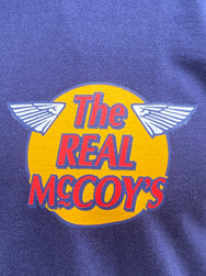 The Real McCoy's MC20002 Logo Tee L/S Navy