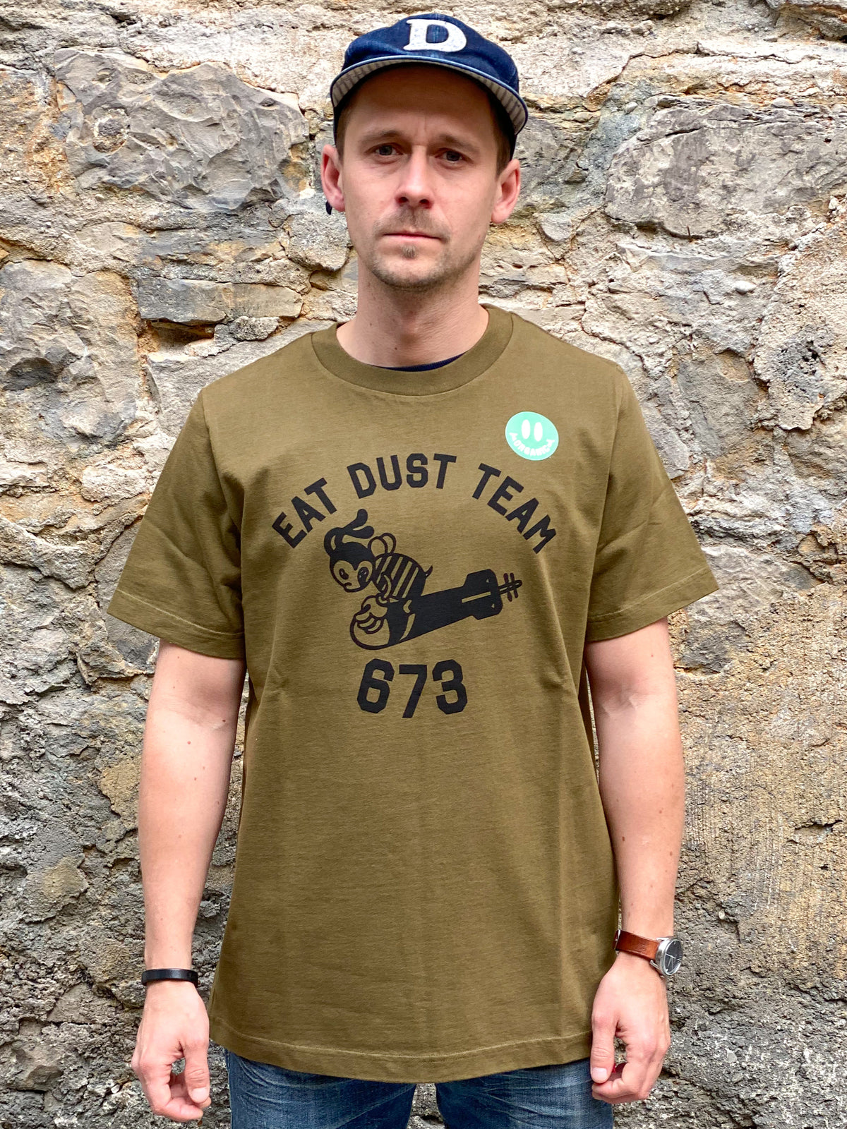 Eat Dust T-Torpedo Dust Organic Cotton Khaki