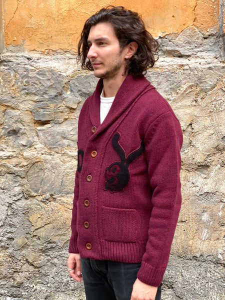 Eat Dust Ivy Cardigan Bunny Nadir Bordeaux