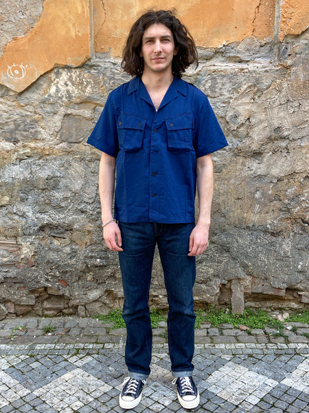 Fleurs de Bagne The Jungle Shirt Indigo