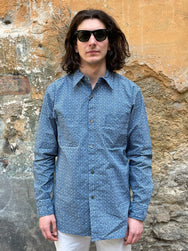 Black Sign Indigo Wabash Watch Cuffs Shirt
