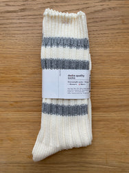 Decka Cased Heavy Weight Socks Stripes  - Grey [de-29]