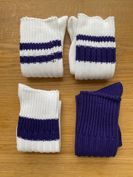 Decka  Eccentric Socks / 4pcs set [BNB × de-08] Purple