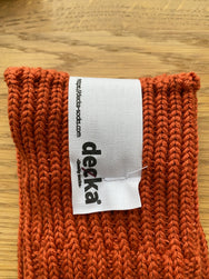 Decka Cased Heavy Weight Plain Socks -1st collection - Orange [de-01]