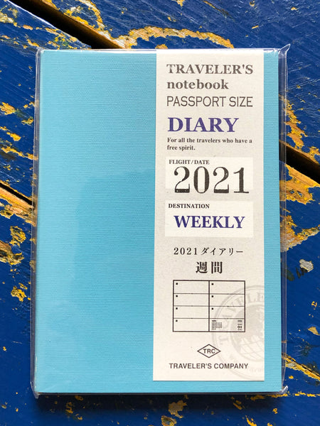 Traveler's Company - 2021 Weekly Diary Refill - Passport Size