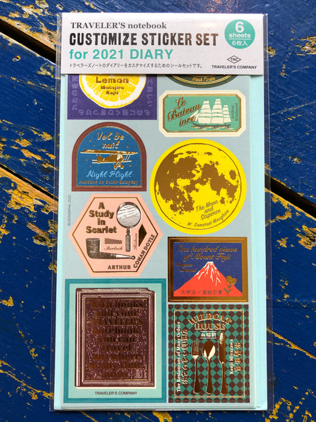 Traveler's Company 2021 Customize Sticket Set