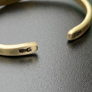 Krysl Goods Hammered Brass Cuff Bracelet No.44