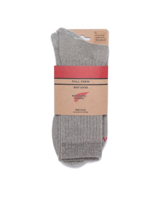 Red Wing Full Crew Socks Charcoal