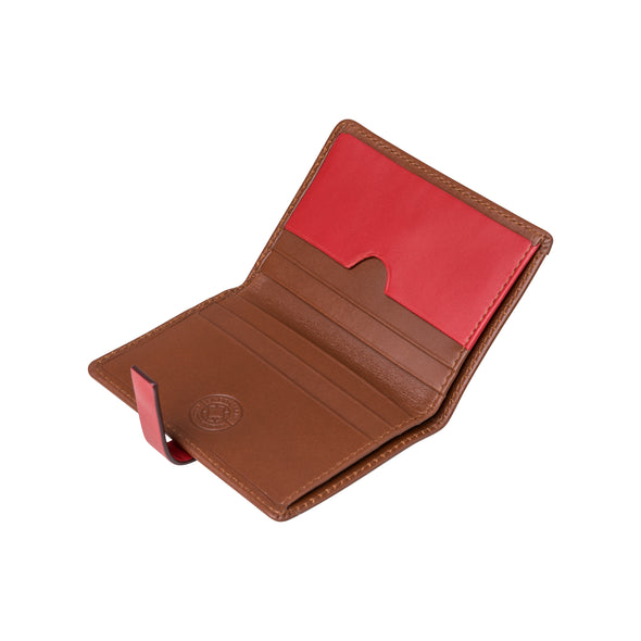 Slim Jim Red | Wallets UK | La Portegna UK | Handmade Leather Goods | Vegetable Tanned Leather
