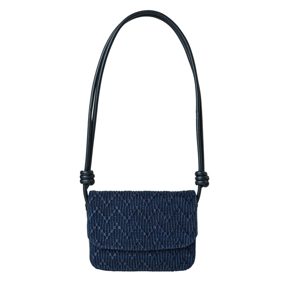 Lucia Navy Jute | La Portegna UK | Handmade Leather Goods | Vegetable Tanned Leather